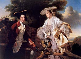 Portrait of Perez Burdett and his First Wife Hannah, 1765 by Wright of Derby | Painting Reproduction