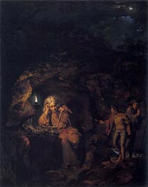 A Philosopher by Lamp Light, 1769 by Wright of Derby | Painting Reproduction