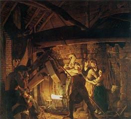 An Iron Forge, 1772 by Wright of Derby | Painting Reproduction