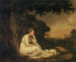 Maria from Sterne, 1777 by Wright of Derby | Painting Reproduction