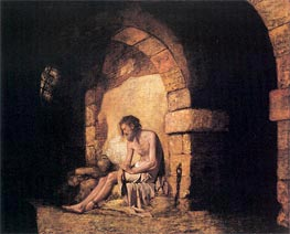 The Captive from Sterne, 1774 by Wright of Derby | Painting Reproduction