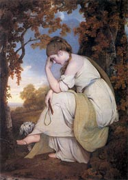 Maria from Sterne, 1781 by Wright of Derby | Painting Reproduction