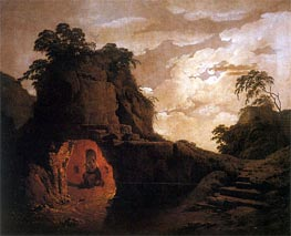 Virgil's Tomb with the Figure of Silius Italicus, 1779 by Wright of Derby | Painting Reproduction