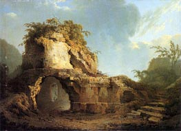 Virgil's Tomb Sun Breaking through a Cloud, 1785 by Wright of Derby | Painting Reproduction