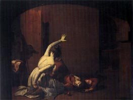 Romeo and Juliet, the Thomb Scene 'Noise again! then I'll be', 1790 by Wright of Derby | Painting Reproduction