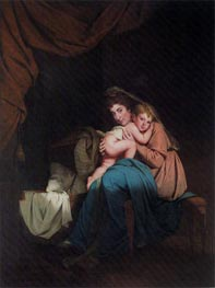 Lady Wilmot and her Child, 1788 by Wright of Derby | Painting Reproduction