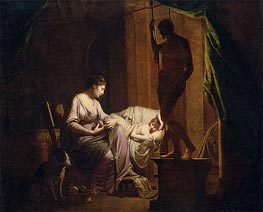 Penelope Unraveling Her Web by Lamp Light, 1785 by Wright of Derby | Painting Reproduction
