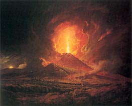 An Eruption of Vesuvius seen from Portici | Wright of Derby | Painting Reproduction
