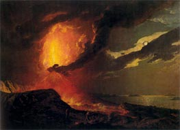 Vesuvius in Eruption with a View over the Islands in the Bay of Naples, c.1776/80 by Wright of Derby | Painting Reproduction