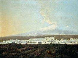 A View of Catania with Mount Etna in the Distance, c.1775 by Wright of Derby | Painting Reproduction