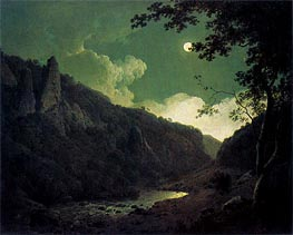 Dovedale by Moonlight, 1785 by Wright of Derby | Painting Reproduction