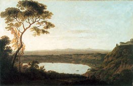 Lake Albano, c.1790/92 by Wright of Derby | Painting Reproduction
