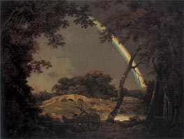 Landscape with a Rainbow, 1794 by Wright of Derby | Painting Reproduction