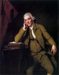 Portrait of Jedediah Strutt, c.1790 by Wright of Derby | Painting Reproduction