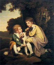 Portrait of Thomas and Joseph Pickford as Children, c.1777/79 by Wright of Derby | Painting Reproduction