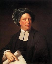 Portrait of Rev. John Pickering, c.1777/80 by Wright of Derby | Painting Reproduction