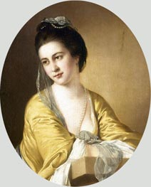 Portrait of Miss Theodora Fortune, undated by Wright of Derby | Painting Reproduction