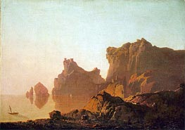 The Gulf of Salerno, c.1783/85 by Wright of Derby | Painting Reproduction