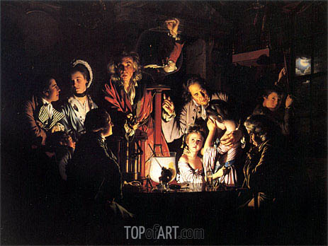 An Experiment on a Bird in the Air Pump, 1768 | Wright of Derby | Painting Reproduction