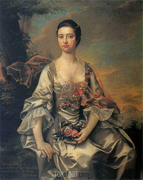 Portrait of Anne or Molly Cracroft, c.1760 | Wright of Derby | Painting Reproduction