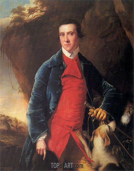 Portrait of Francis Noel Clarke Mundy, c.1762/63 | Wright of Derby | Gemälde Reproduktion