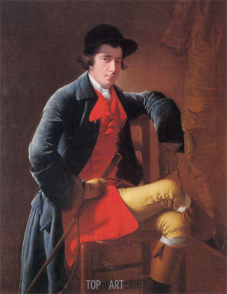 Portrait of Nicholas Heath, c.1762/63 | Wright of Derby | Gemälde Reproduktion