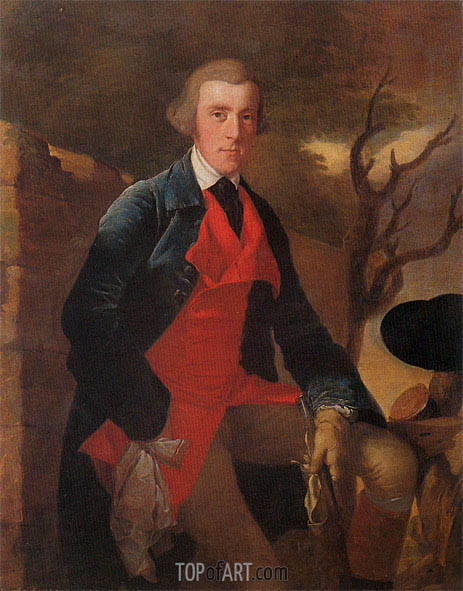 Portrait of Edward Becher Leacroft, c.1763 | Wright of Derby | Painting Reproduction