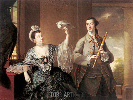 Portrait of Mr and Mrs William Chase, 1760 | Wright of Derby | Gemälde Reproduktion