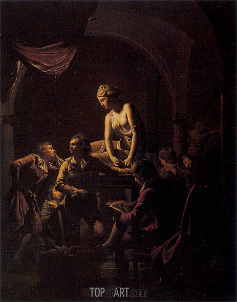 Wright of Derby | An Academy by Lamplight, 1769