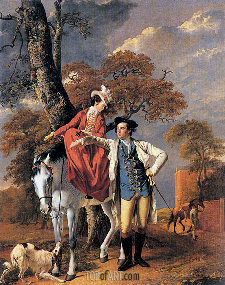 Wright of Derby | Portrait of Mr and Mrs Coltman, 1771