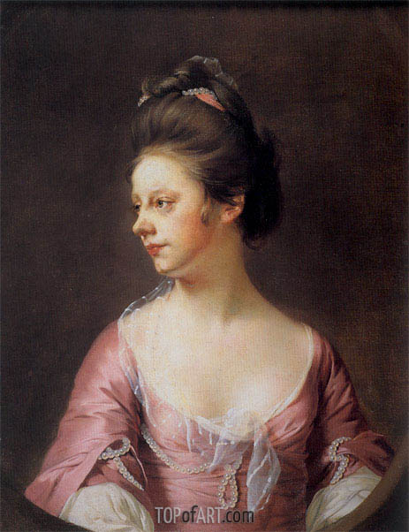 Portrait of Mrs Catherine Swindell, c.1769/71 | Wright of Derby | Painting Reproduction