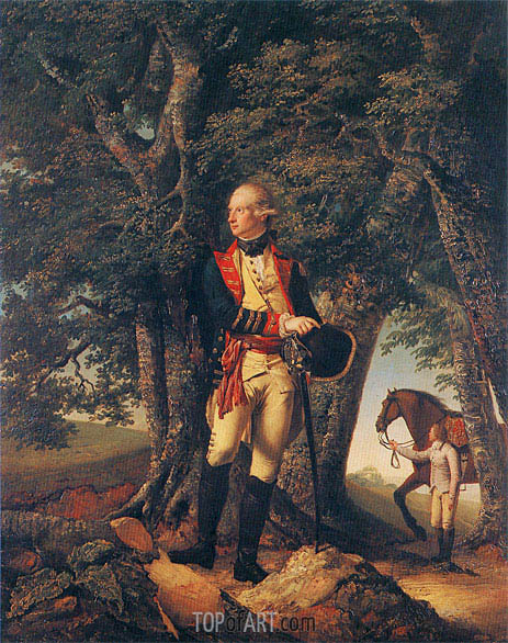 Portrait of Captain Robert Shore Milnes, 1772 | Wright of Derby | Painting Reproduction