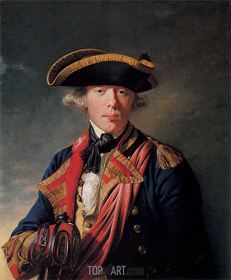 Portrait of Cornet Sir George Cooke, c.1766/68 | Wright of Derby | Painting Reproduction