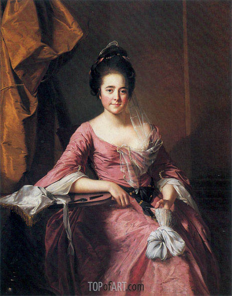 Portrait of a Lady with her Lacework, c.1770 | Wright of Derby | Painting Reproduction