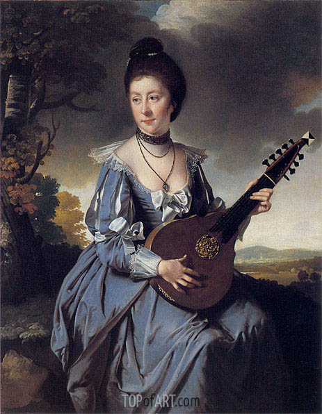 Portrait of Mrs Robert Gwillym, 1766 | Wright of Derby | Painting Reproduction