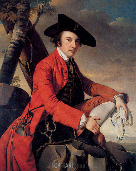 Portrait of Fleetwood Hesketh, 1769 | Wright of Derby | Painting Reproduction