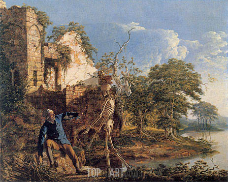 The Old Man and Death, 1774 | Wright of Derby | Painting Reproduction
