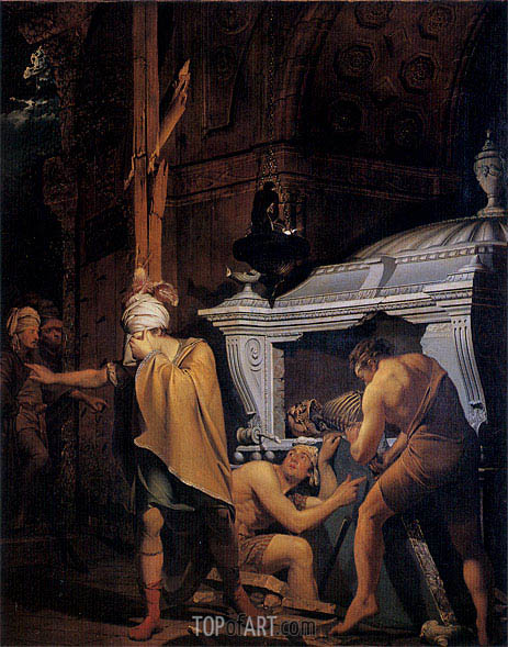 Wright of Derby | Miravan Breaking Open the Tomb of his Ancestors, 1772