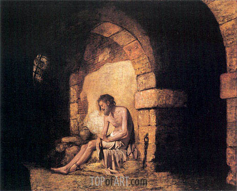 The Captive from Sterne, 1774 | Wright of Derby | Painting Reproduction