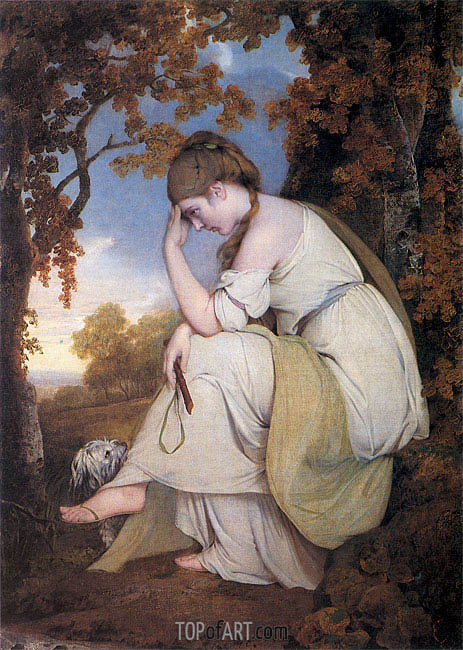 Maria from Sterne, 1781 | Wright of Derby | Painting Reproduction