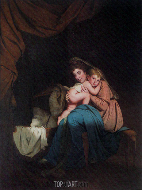 Lady Wilmot and her Child, 1788 | Wright of Derby | Painting Reproduction