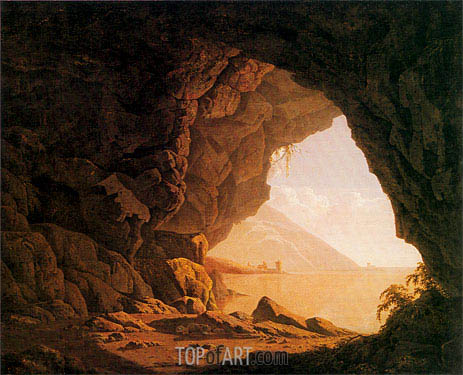 A Cavern Morning, 1774 | Wright of Derby | Gemälde Reproduktion