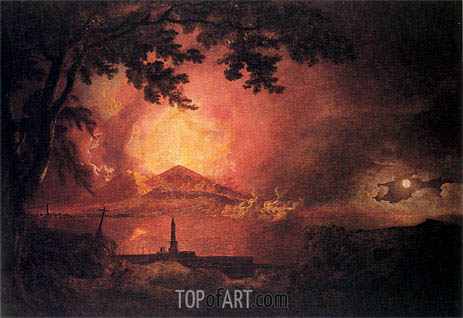 Vesuvius in Eruption, c.1777/80 | Wright of Derby | Gemälde Reproduktion
