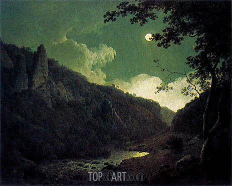 Wright of Derby | Dovedale by Moonlight, 1785