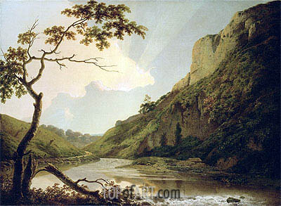 Wright of Derby | Matlock Tor by Daylight, c.1778/80