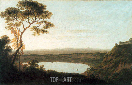 Lake Albano, c.1790/92 | Wright of Derby | Gemälde Reproduktion
