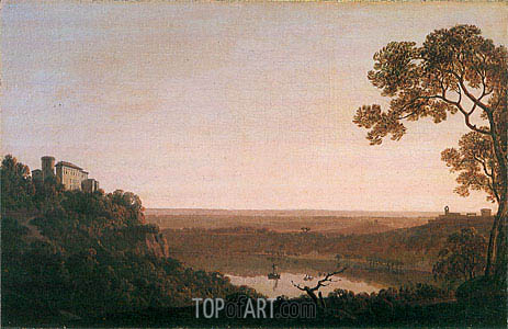 Lake Nemi, c.1790/92 | Wright of Derby | Painting Reproduction