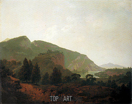Italian Landscape, 1790 | Wright of Derby | Painting Reproduction