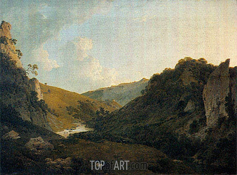 View in Dovedale, 1786 | Wright of Derby | Painting Reproduction