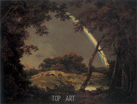 Landscape with a Rainbow, 1794 | Wright of Derby | Painting Reproduction